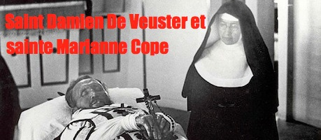 759px-Father_Damien_on_his_funeral_bier_with_Mother_Marianne_Cope_by_his_side