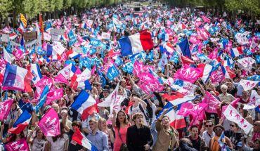 Marlene Awaad pour Le Figaro ; Paris, France le 5 mai 2013 - Rassemblement de la Manif pour tous, pour protester contre l adoption de la loi sur le mariage pour tous.