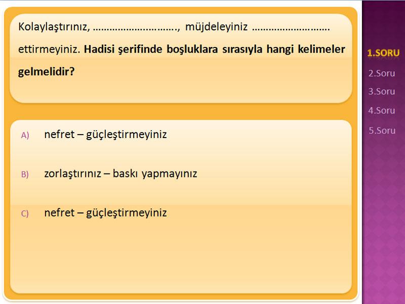 Bilgi Yarışması \u2013 Tamamı Değiştirilebilir »