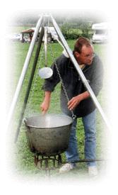 Kochen im Kupferkessel