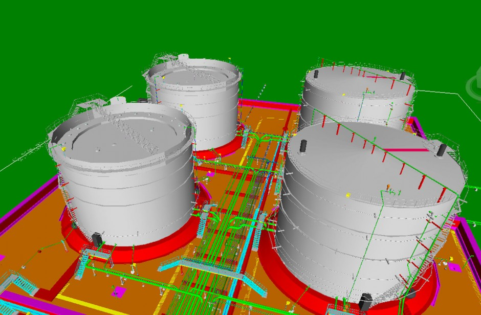 Piping Detailed Engineering with 3D Modeling of Tank Farm Area
