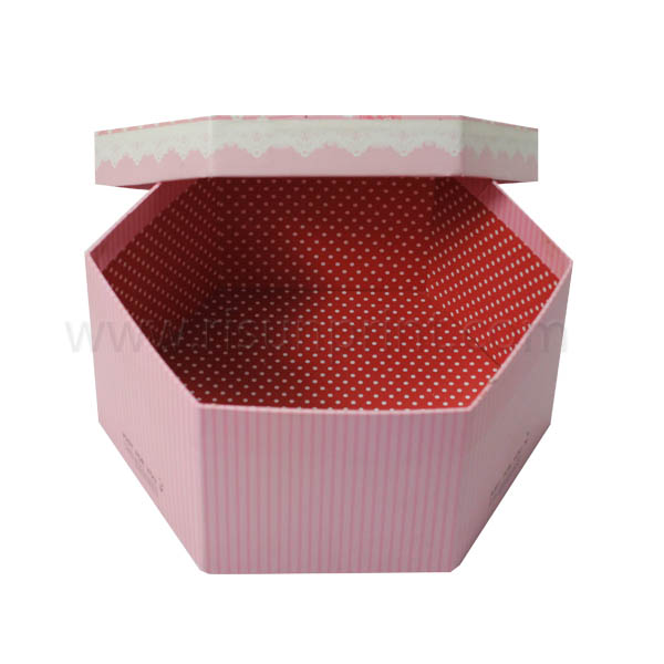 Pink Color Printed CMYK Image Large Gift Boxes With Lids Wholesale - large gift boxes with lids