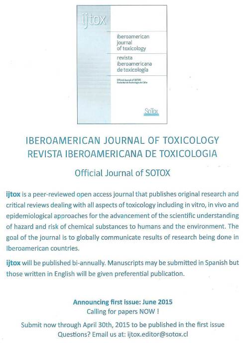 Iberoamerican Journal of Toxicology / Revista Iberoamericana de Toxicología