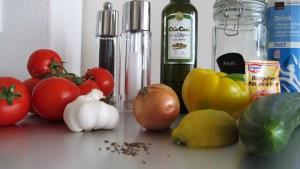 Zutaten für eine australische Gazpacho