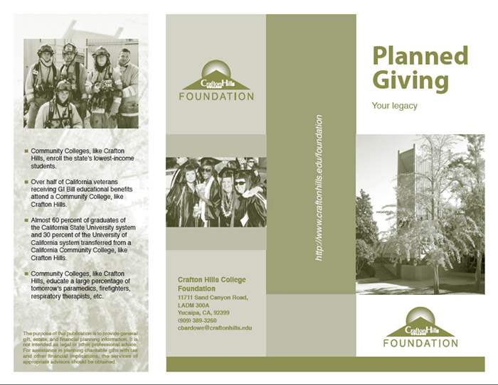 Crafton Hills College Foundation - Planned Giving Brochure - Rivera