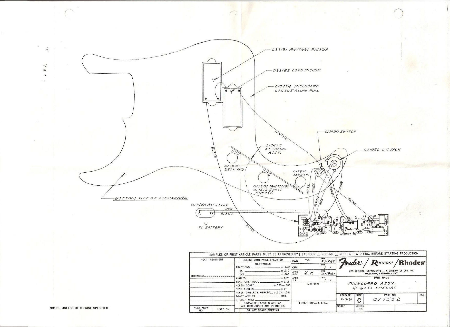 fender american deluxe precision bass wiring diagram