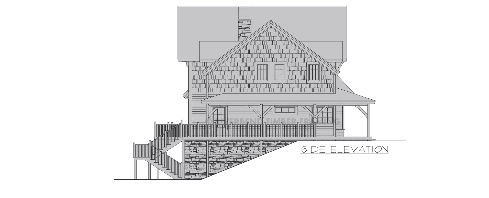 Fairfield Timber Frame Floor Plan By Riverbend