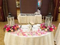 Reception: Sweetheart & Card Table Flowers