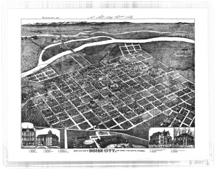 This is one of the earliest maps depicting the River Street Neighborhood
