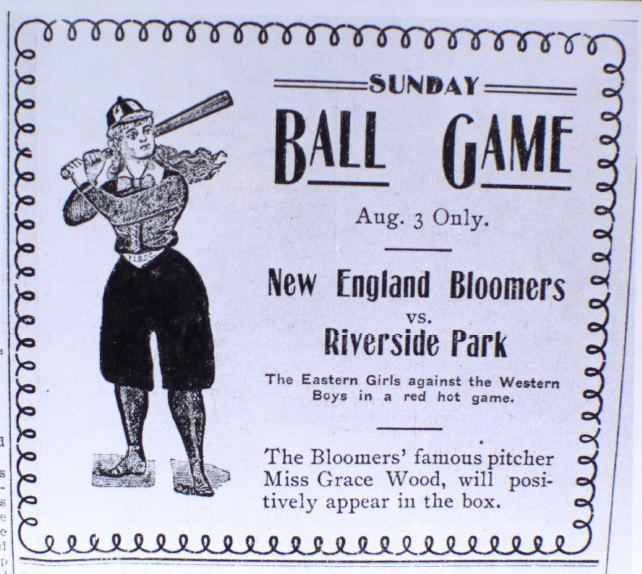A 1902 advertisement for a baseball game at Riverside Park, Boise, Idaho