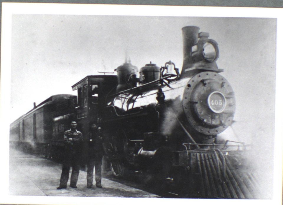 During the early 20th century, locomotives like this one brought passengers to Boise (1907)