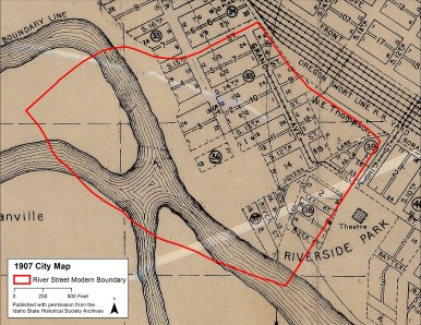 In the early 1900s, River Street residents had access to Riverside Park