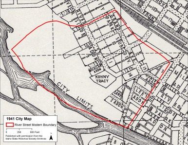 The street alignments in River Street remained the same during the 1930s