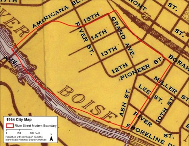 Here is the Neighborhood just before major road realignments changed it forever