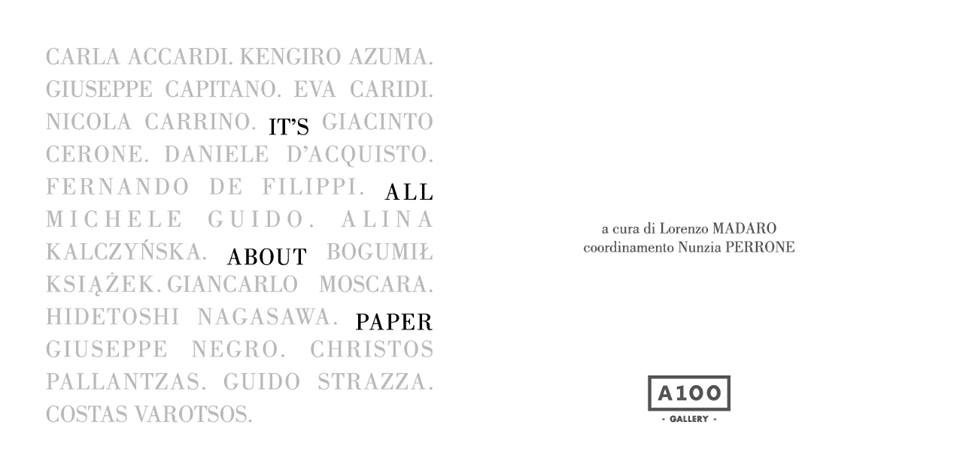 It's all about paper / A100 Gallery
