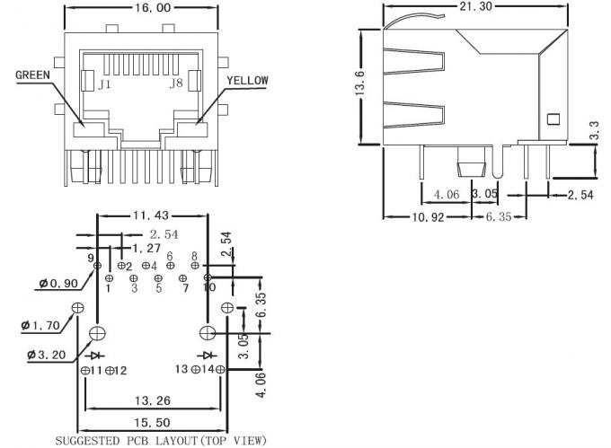 rj45 connector schematic