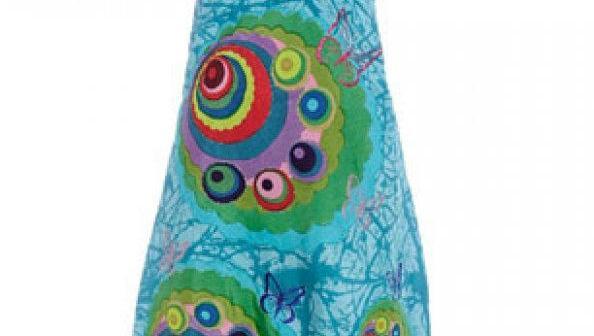 فستان  بيت ملون