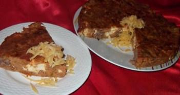 وصفة سهلة كيكة اللحم و الجبن