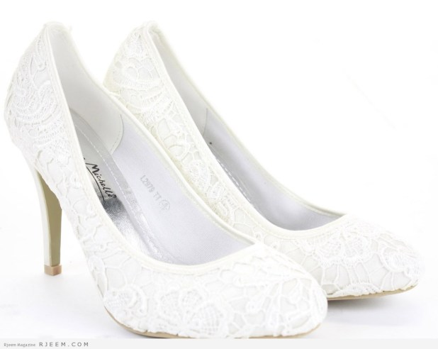 احذية زفاف روعه لعروس 2015
