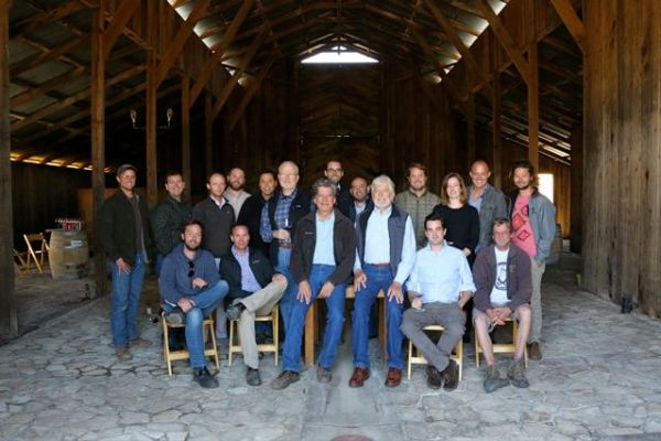 Santa Barbara County winemakers who gathered to hear from Michael Benedict (photo courtesy Baron Spafford)