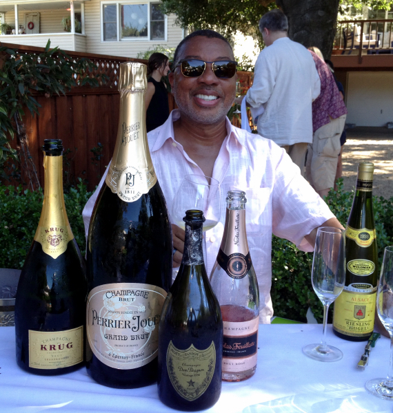 Conrad Kenley with a few of the wines opened for his birthday in St. Helena