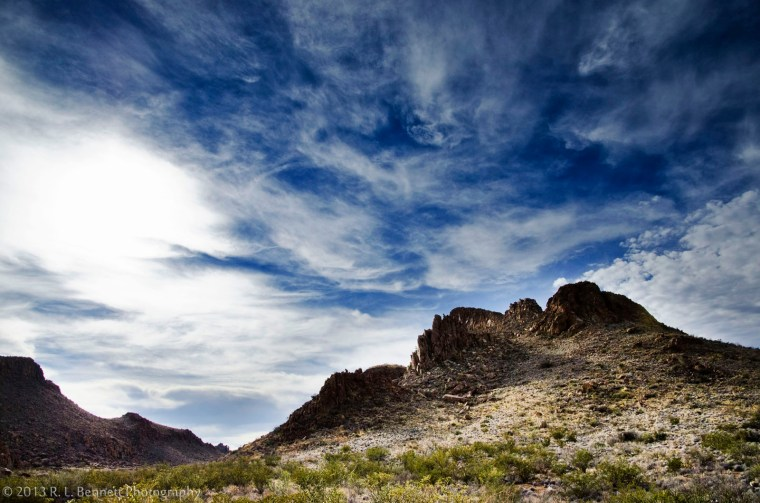 Sweeping Clouds over Grapevine Hills