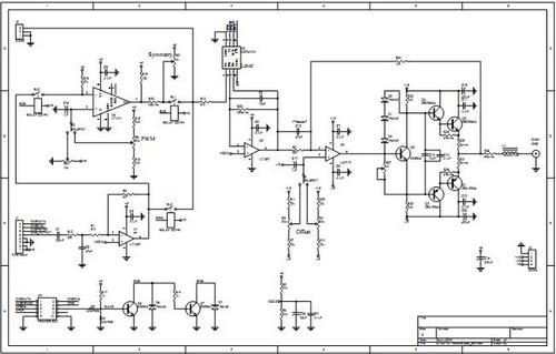 dds function generator ttl output schematic