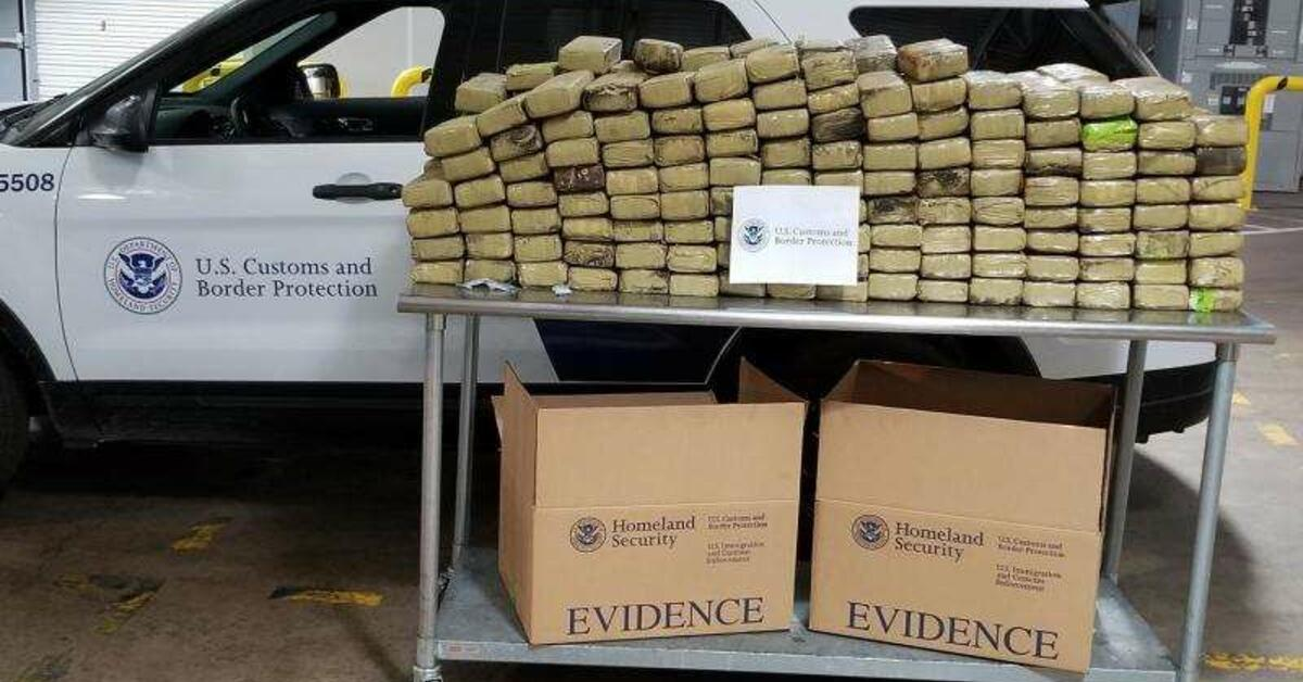614 Pounds Of Marijuana Concealed Inside Shipping
