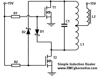 Simple DIY Induction Heater Circuit - RMCybernetics