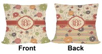 "Fall Flowers Outdoor Pillow - 18"" (Personalized ..."
