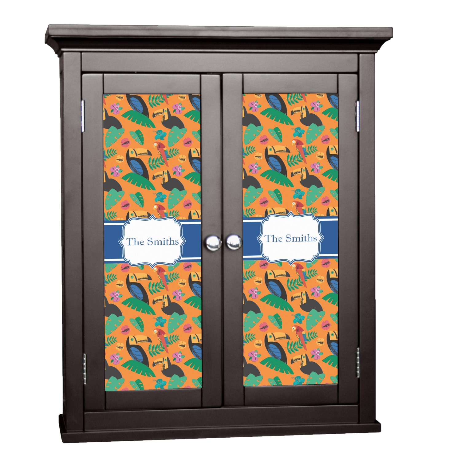Toucans Cabinet Decal Large Personalized You
