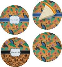 Toucans Set of 4 Glass Appetizer / Dessert Plate 8 ...