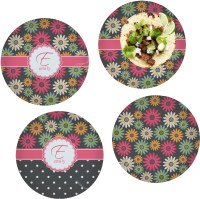Daisies Set of 4 Glass Lunch / Dinner Plate 10