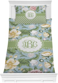 Vintage Floral Comforter Set - Twin (Personalized ...