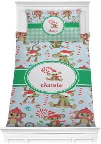 Christmas Monkeys Comforter Set - Twin (Personalized ...