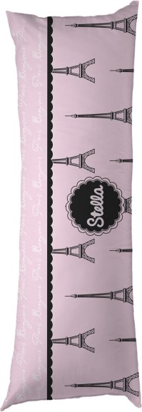 Paris & Eiffel Tower Body Pillow Case (Personalized) - You ...