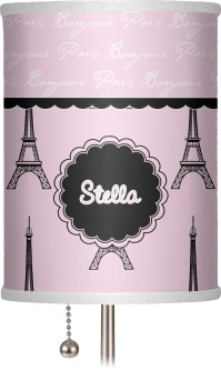 Paris & Eiffel Tower Drum Lamp Shade Linen (Personalized ...