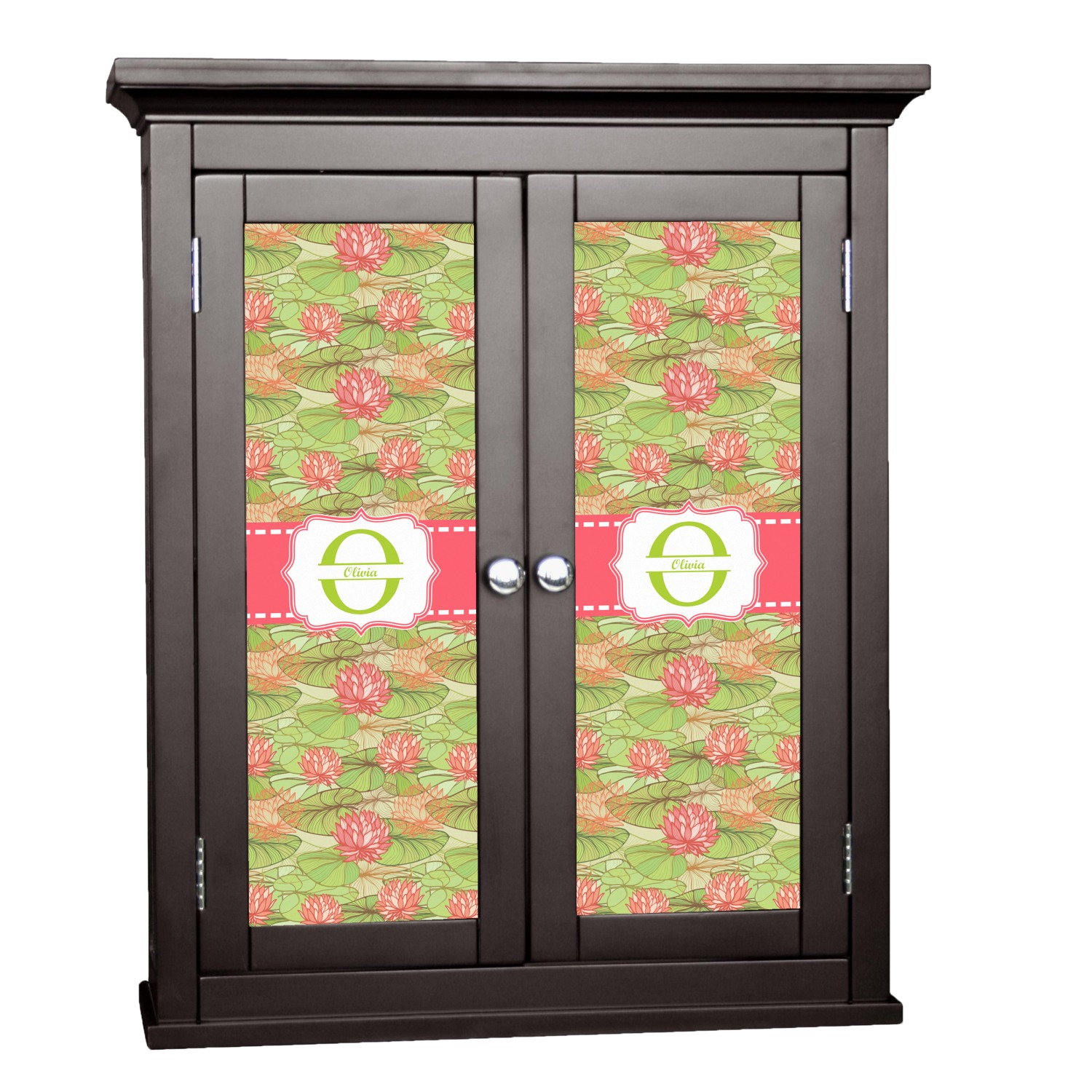 Lily Pads Cabinet Decal Custom Size Personalized