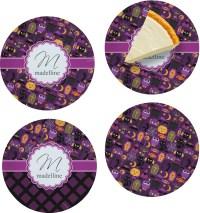 Halloween Set of 4 Glass Appetizer / Dessert Plate 8 ...