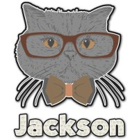 Hipster Cats & Mustache Graphic Wall Decal (Personalized ...