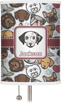 Dog Faces Drum Lamp Shade (Personalized) - You Customize It