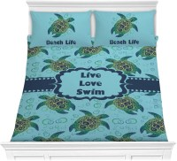 Sea Turtles Comforter Set - Full / Queen (Personalized ...