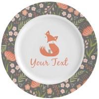 Foxy Mama Ceramic Dinner Plates (Set of 4) - You Customize It