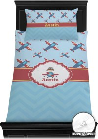 Airplane Theme Duvet Cover Set - Twin (Personalized ...