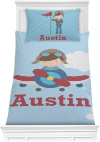 Airplane & Pilot Comforter Set - Twin (Personalized ...