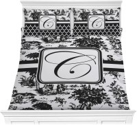 Toile Comforter Set - Full / Queen (Personalized ...