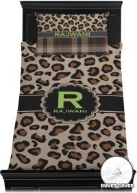 Granite Leopard Duvet Cover Set - Twin (Personalized ...