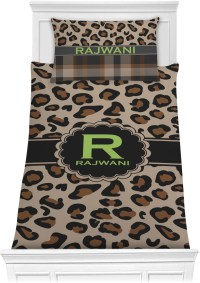 Granite Leopard Comforter Set - Twin (Personalized ...