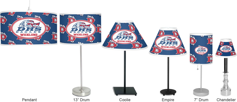 Football lamp shades car essay dawson eagles football empire lamp shade personalized aloadofball Images