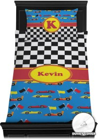 Racing Car Duvet Cover Set - Twin (Personalized ...